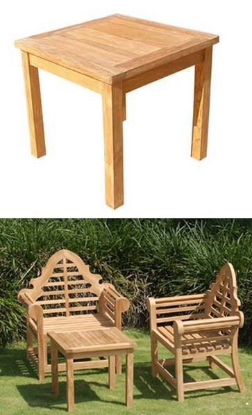 tavolino basso quadrato Sanur in teak 60X60X55h arredo giardino Art ...