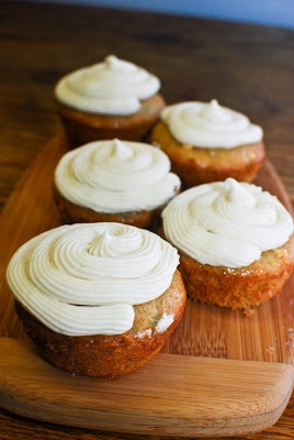 Zucchini Cupcakes and cream cheese frosting