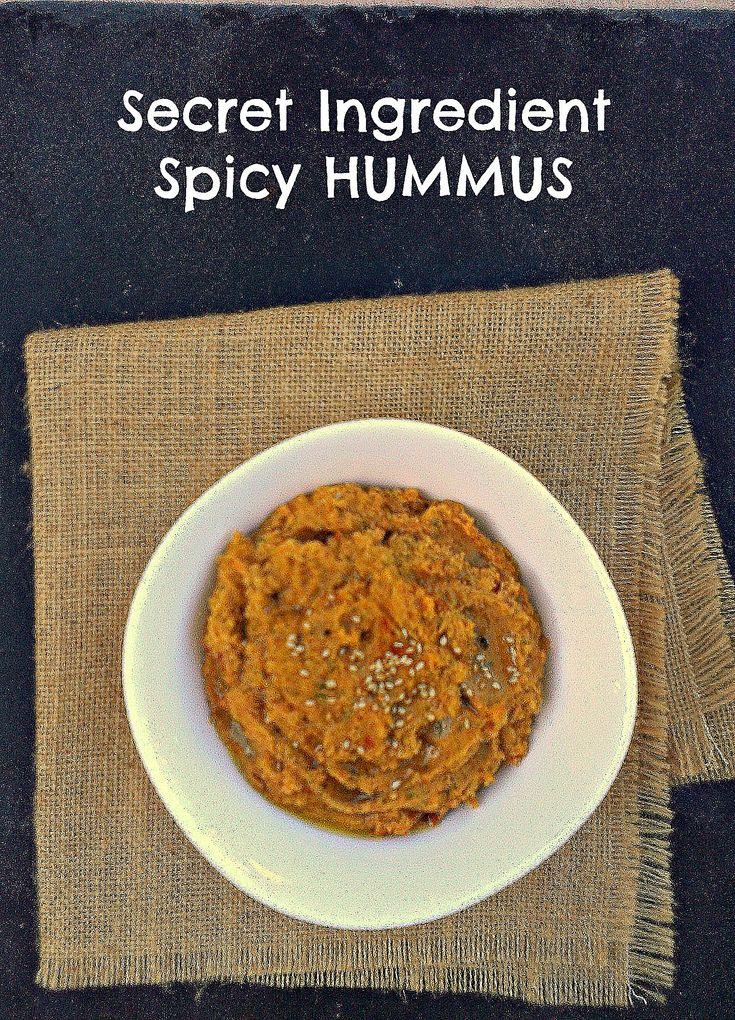 Spicy Garlic Hummus - honey & figs