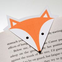 cute foxy free printable bookmark