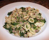 Orecchiette with Rapini & Hot Sausage - also known as Broccoli Rabe ...