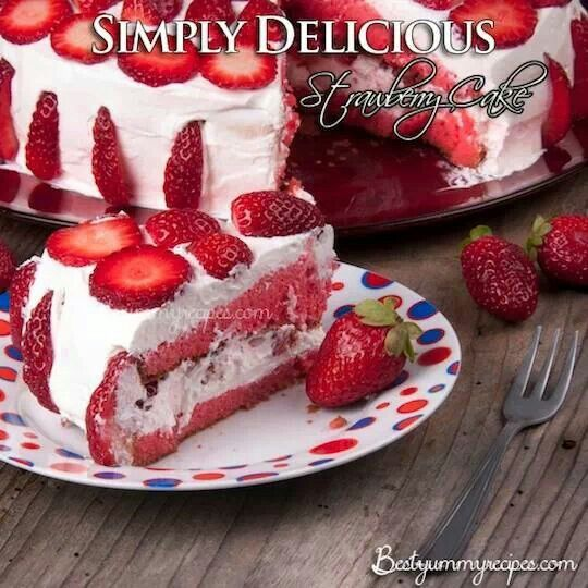Strawberry cake | recipes | Pinterest