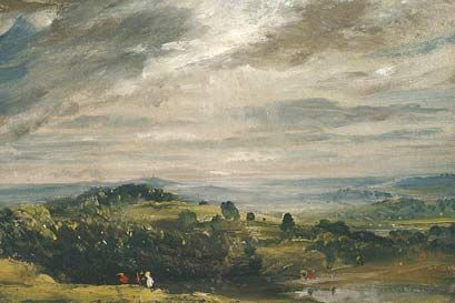 view from hampstead heath, looking twoards harrow 1821 j constable manchester gallery - Google Search