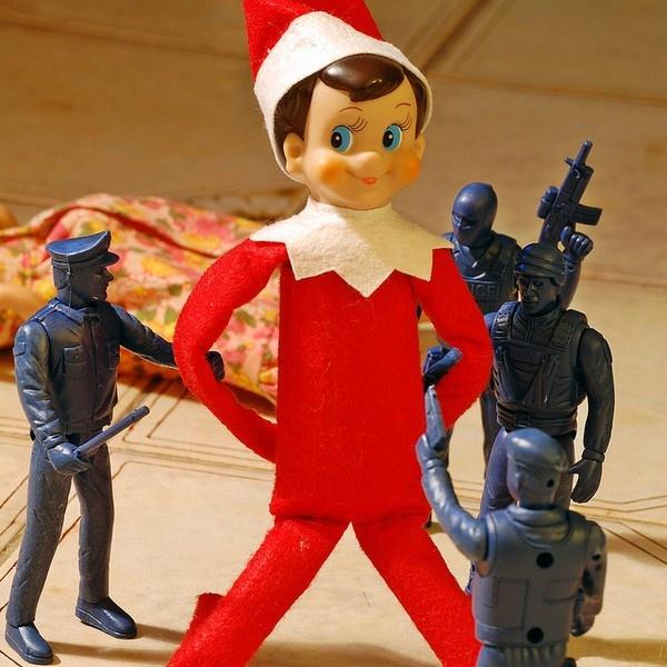 Elf on a Shelf arrested?? | Random Pins | Pinterest