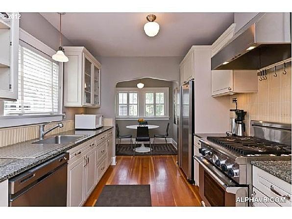 pinterest On updated galley kitchen