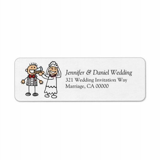Weddings Invitation Return Address Sticker Custom Return Address Label