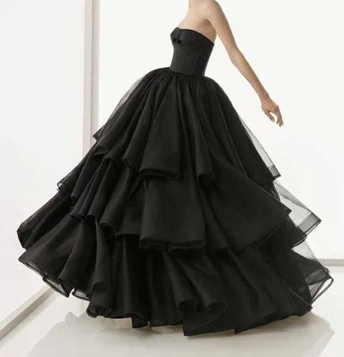 Black Wedding Dress Ball Gowns Pinterest