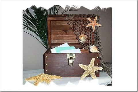 treasure chest card box Wedding BEACH Pinterest