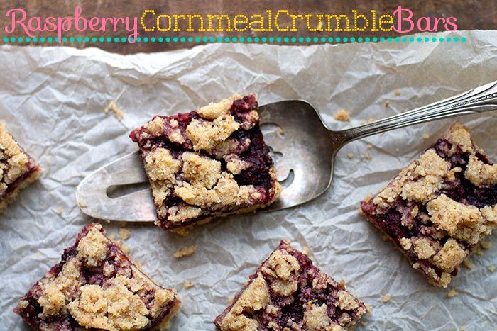 Raspberry cornmeal crumble bars. This recipe uses frozen raspberries ...