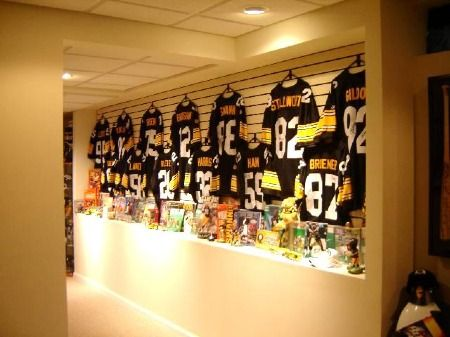 he did ask for a sports theme in the basement think he 39 ll care if