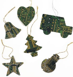 Upcycled Christmas decorations - http://greenrenters.org/product/upcycled-christmas-decorations