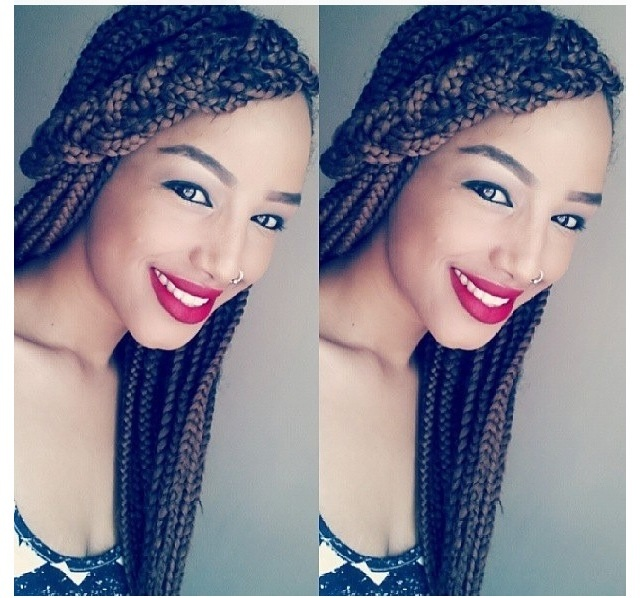 Box Braids With Bangs Side braid bangs. box braid