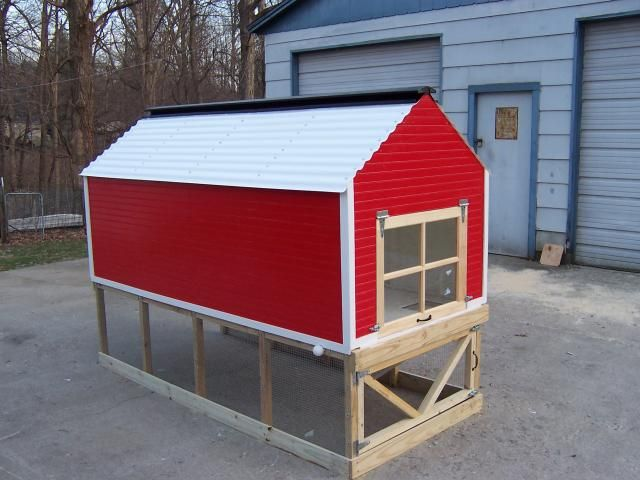 Big red barn chicken coop garden tips and ideas pinterest for Red chicken coop