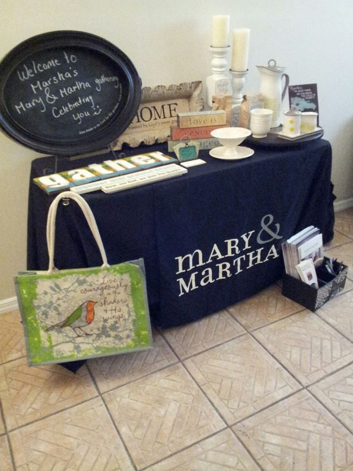 Mary & Martha products in action...