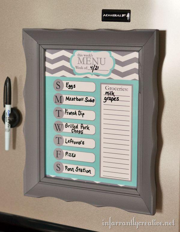 week menu planner template - menu planner templates
