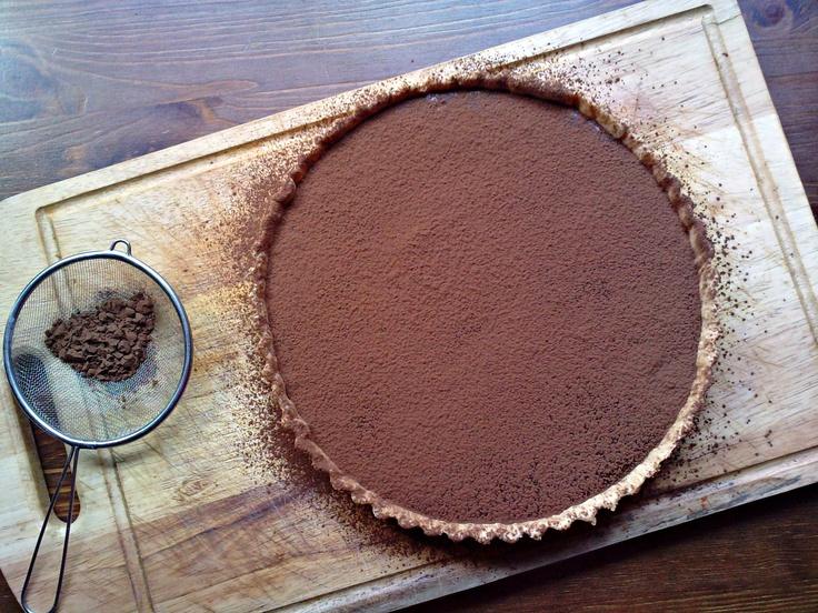 Rich chocolate espresso tart | Caffeine Cravings | Pinterest