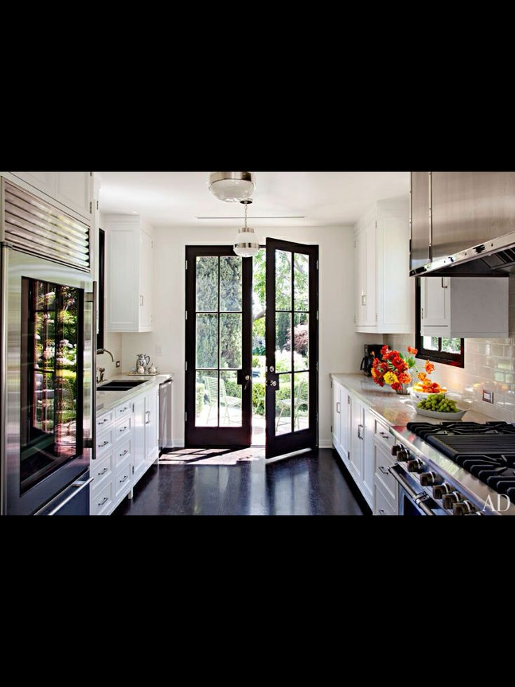 Black Kitchen French Doors