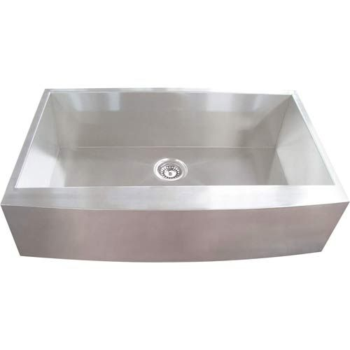 Square Sink Bowl : ... Steel Curved Apron Single Square Bowl Sink Yosemite Home De