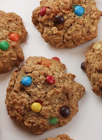 agave and honey oatmeal m amp m cookies # recipe