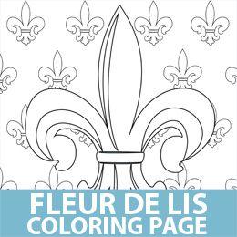 Fleur De Lis Coloring Page Printables Pinterest Fleur De Lis Coloring Page
