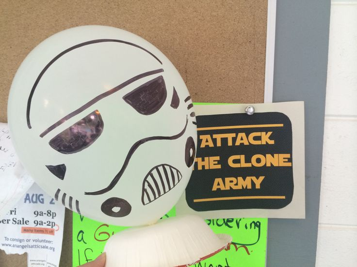 Storm trooper balloons star wars party pinterest