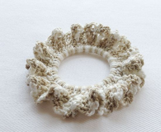 Waffle Cotton Hand Crochet Hair Tie Accessories Pinterest
