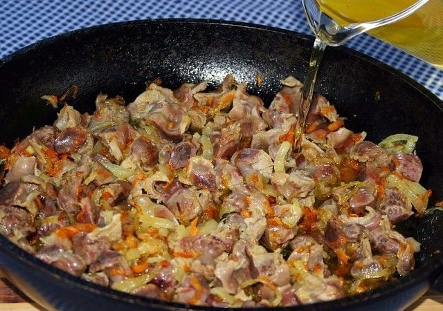 Как приготовить куриные желудки рецепт с