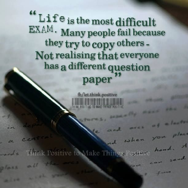 life exam positive quotes pinterest