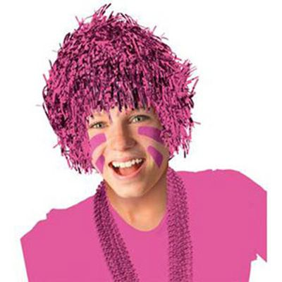 Wig Pink Tinsel, One size fits most