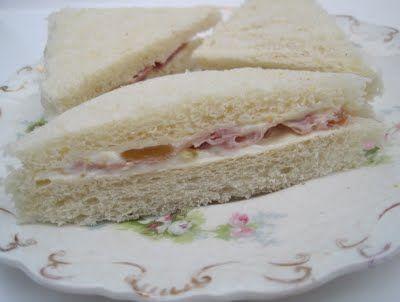 Fig & Prosciutto Tea Sandwiches | Afternoon Tea | Pinterest
