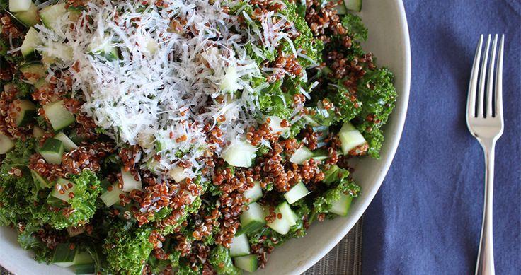 Kale, Quinoa, & Cucumber Salad #recipe!   Good for me   Pinterest