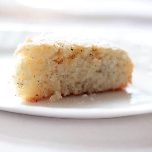 Cardamon scented white coconut cake= delicious