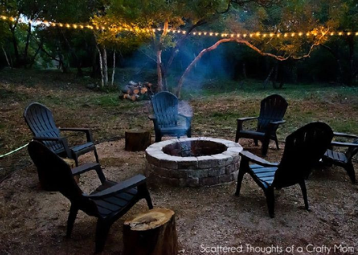 Easy Diy Backyard Fire Pit : Scattered Thoughts of a Crafty Mom Simple DIY Outdoor Fire Pit