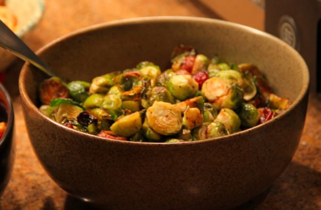 roasted brussels sprouts and grapes with walnuts ingredients: * 24 ...