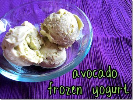 Avocado Frozen Yogurt | Dash diet | Pinterest