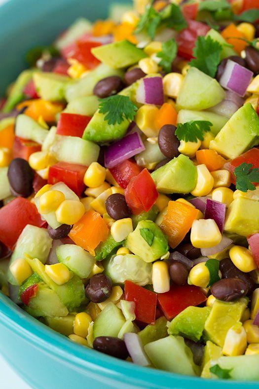 Mexican Chopped Salad with Greek Yogurt Cilantro Lime Ranch - avocados ...