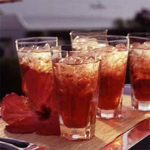Tea Accent the floral flavor of the hibiscus tea with sparkling apple ...