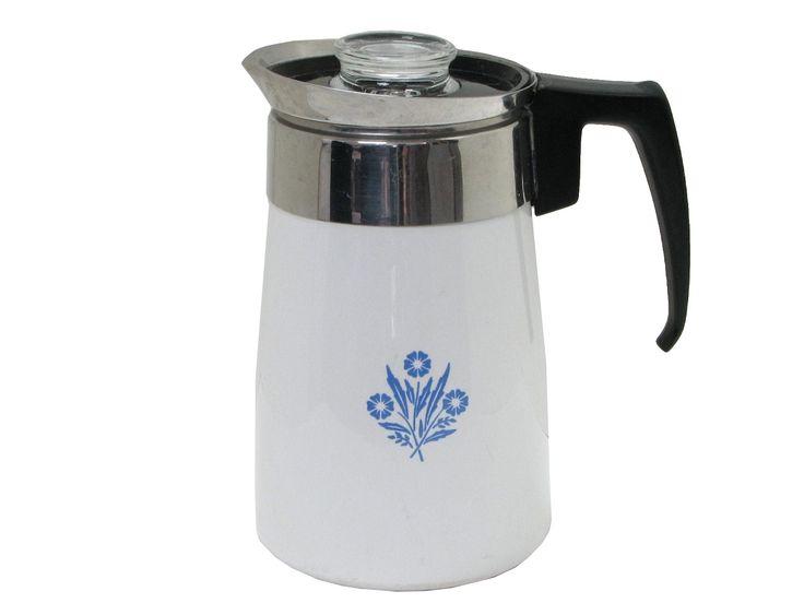 Corning ware percolator coffee maker 70 s Swag Pinterest