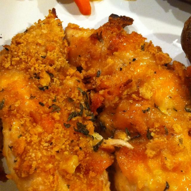 Crispy cheddar chicken | Food | Pinterest