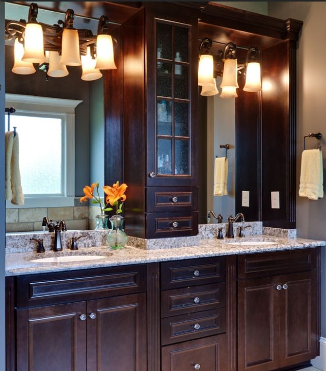 Bathroom decor his and hers sinks home is where the for His and hers bathroom accessories