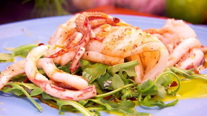 Seared calamari salad   Seafood   Pinterest