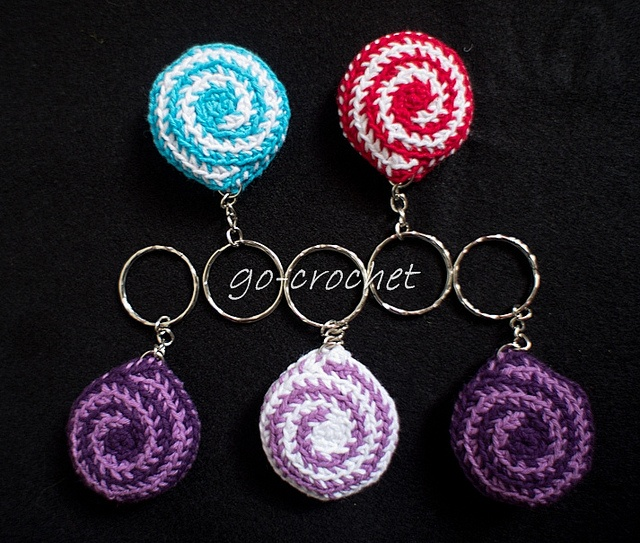 Crochet Patterns Key : Candy Key Chain (pattern) by crocheting Crochet Delights Pinterest