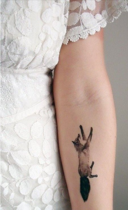 Tattoo inspiration and design!  #tattoodesign #inspiration #tattooideas #fox #arm #lace #girl
