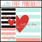 Valentine's Day Free Printables | The 36th AVENUE