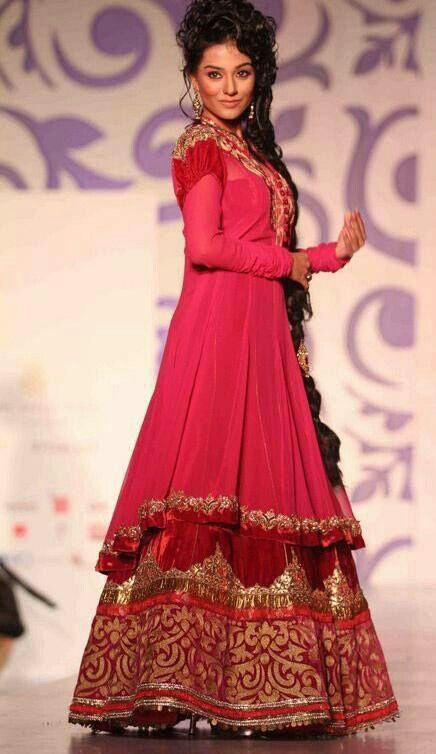 Luscious red indian wedding dress lehenga ghagra for Red indian wedding dress