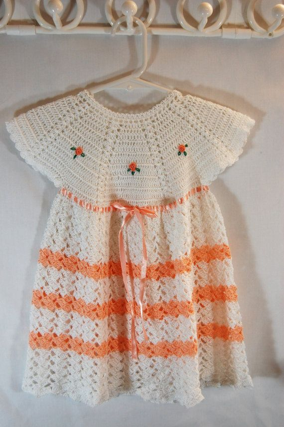 This Crochet Dress is beautiful, I want to make for my granddaughters