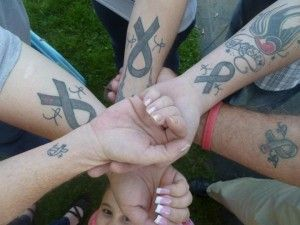 Group tattoo, diabetic, love you Kelly Racicot,BrianMc