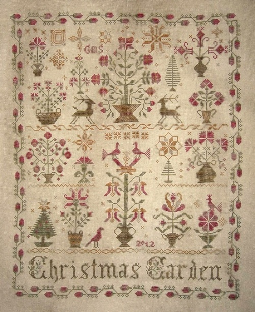 christmas garden blackbird designs needlework