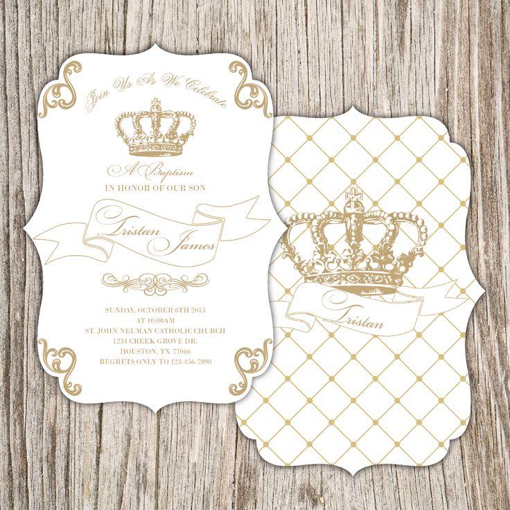 royalty crown invitation baby shower pinterest