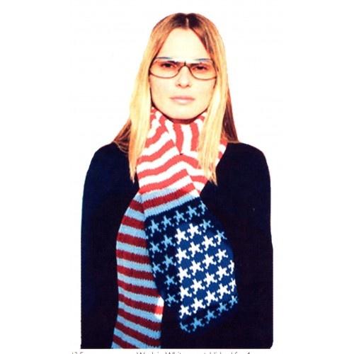 Crochet American Flag Scarf Pattern : american flag scarf knitting pattern Clothess Pinterest